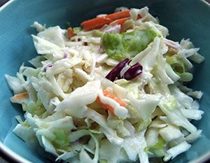 Photo of a bowl of cole slaw